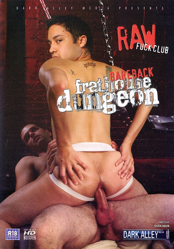 Bareback Frathouse Dungeon DVD - Front