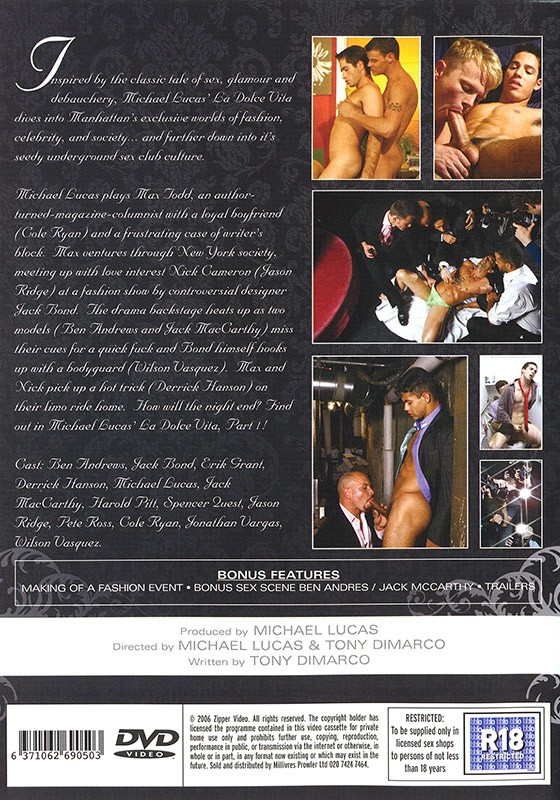 La Dolce Vita part I DVD - Back