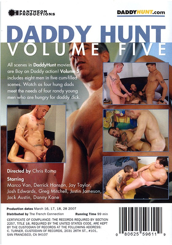 Daddy Hunt volume 5 DVD - Back