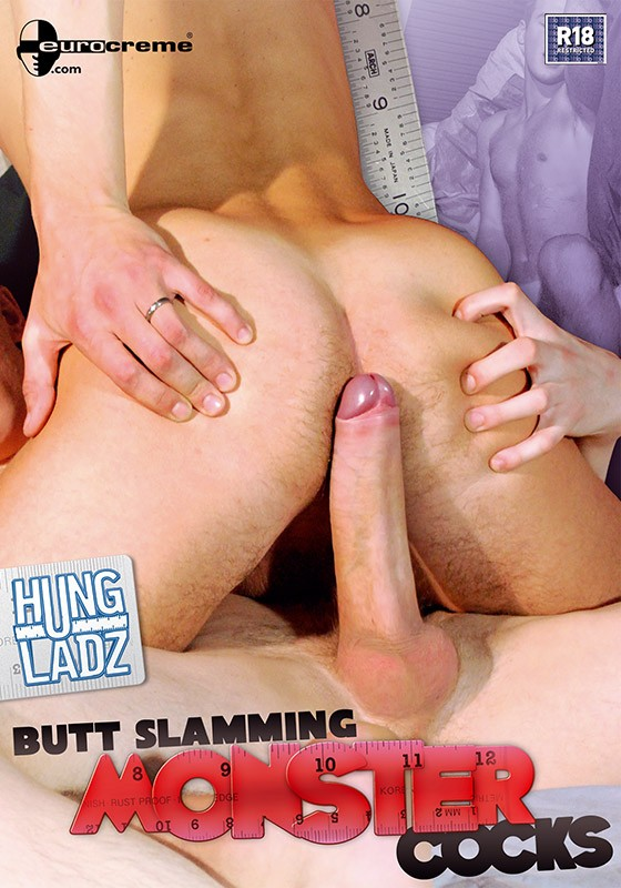 Hung Ladz 6: Butt Slamming Monster Cocks DVD - Front
