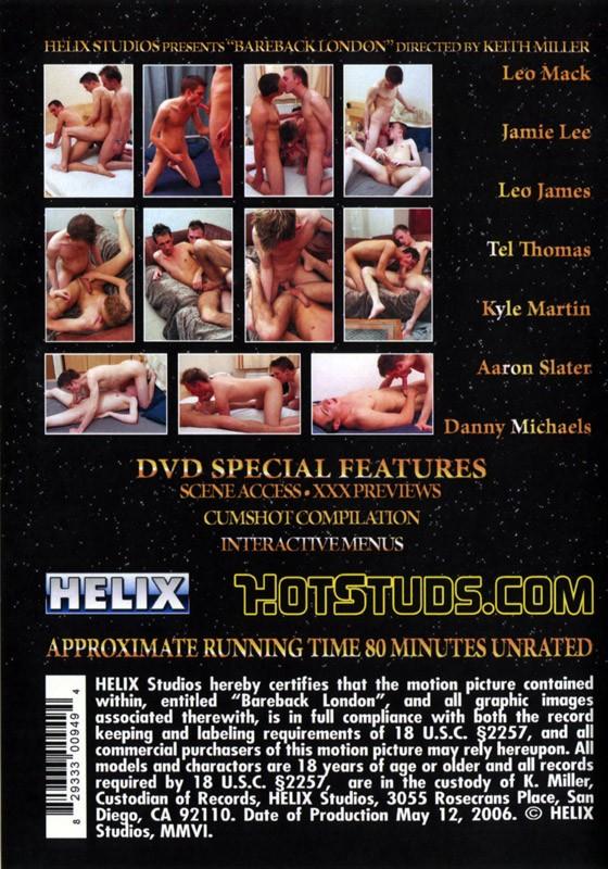 Bareback London DVD - Back