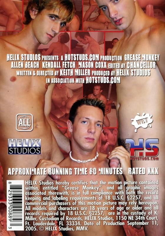 Grease Monkey (Helix) DVD - Back